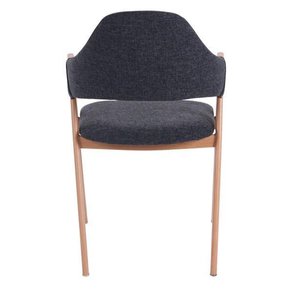 chaise bois lin foncé moderne
