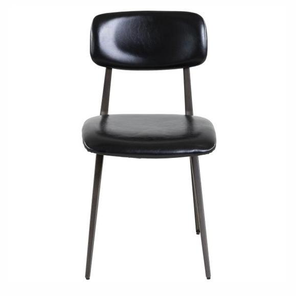 chaise vintage rembourrée noir arthur chaise simili cuir