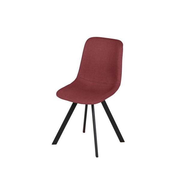 chaise rouge style scandinave