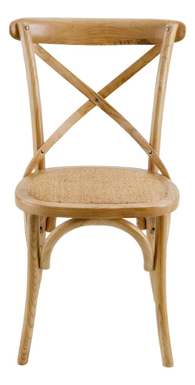 chaise assise tissée confortable bois