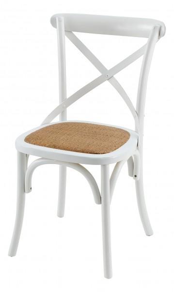 chaise confortable design blanche marron