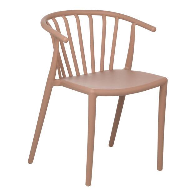 chaise rose pâle design
