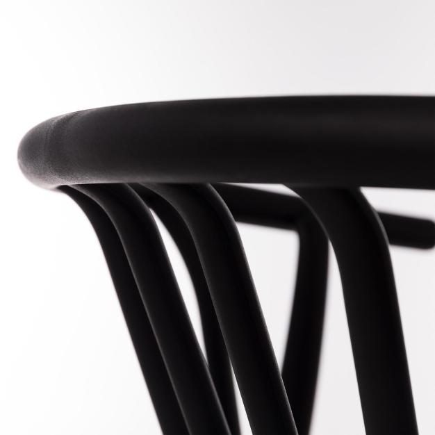 chaise haute qualité noir mate
