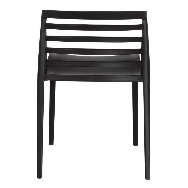 chaise dossier barreaux noir design