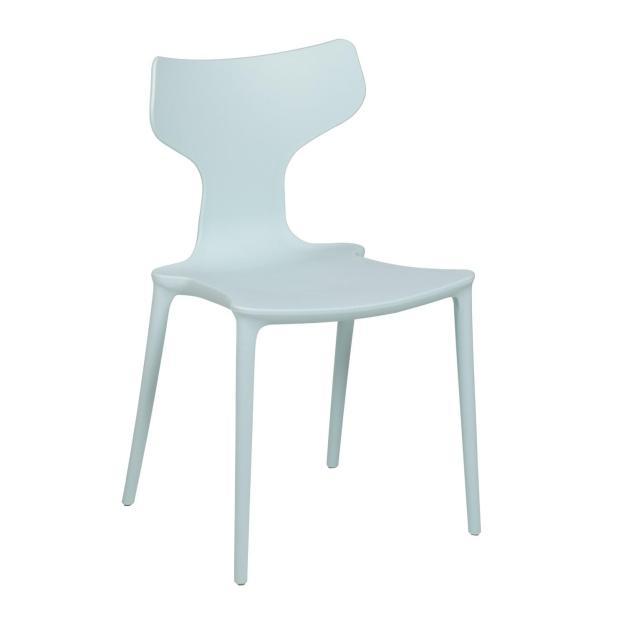 chaise bleu ciel mate