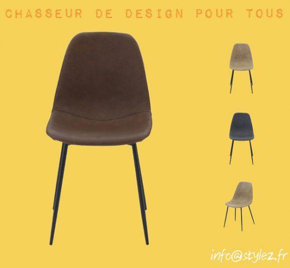 chaise cuir haute qualité design