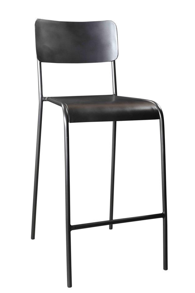 chaise bar hauteur vintage écolier