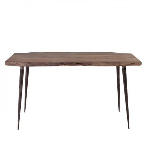 table plateau bois pieds piques
