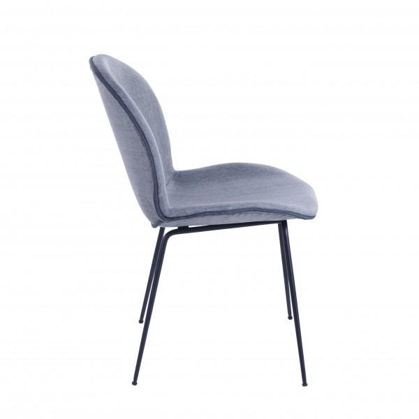 chaise velours gris clair confortable