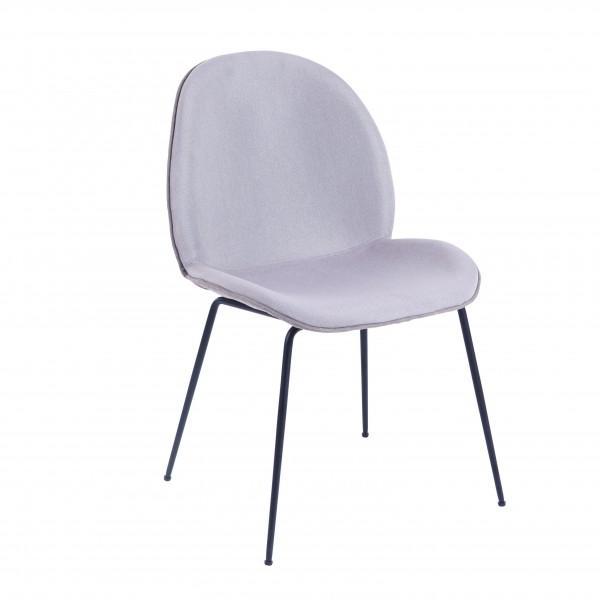 chaise velours design blanc crème