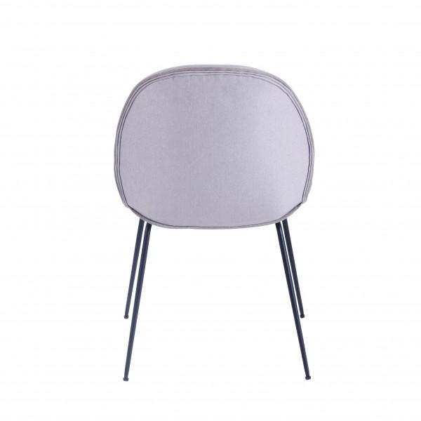 chaise velours contemporaine blanc cassé
