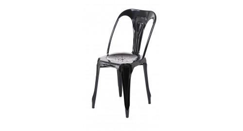 chaise indus noir tendance confortable