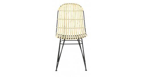 chaise rotin naturel blanc design