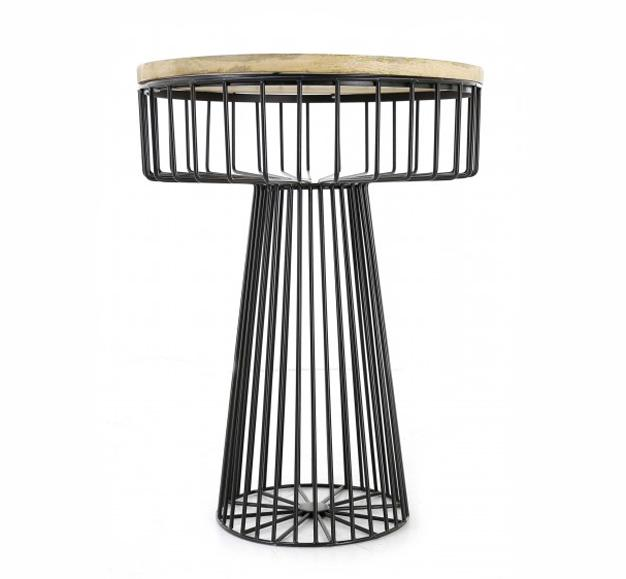 table basse yam gris