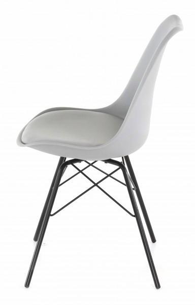 chaise rembourrée design gris moderne