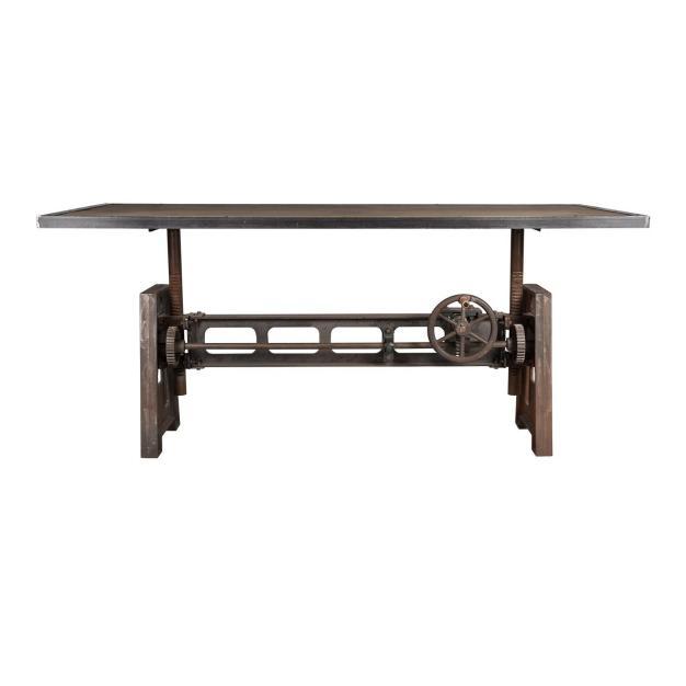 table vintage bois marron foncé