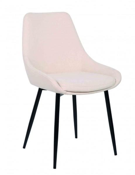 chaise velours confortable contemporaine blanche