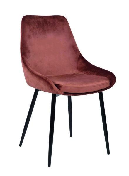 chaise bohème chic velours rose