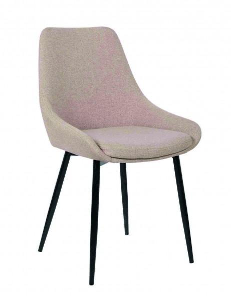 chaise velours couleurs pieds noirs