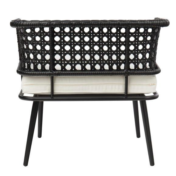chaise jardin rotin élégante confortable