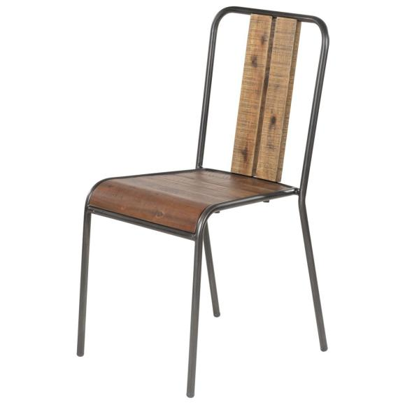 chaise écolier rustik bois métal