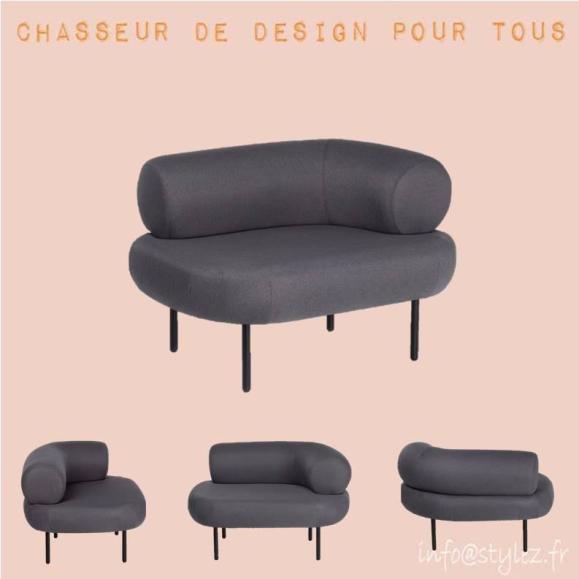 fauteuil design moderne gris anthracite