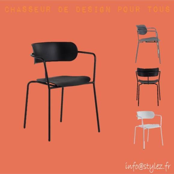 chaise métal industrielle moderne élégante