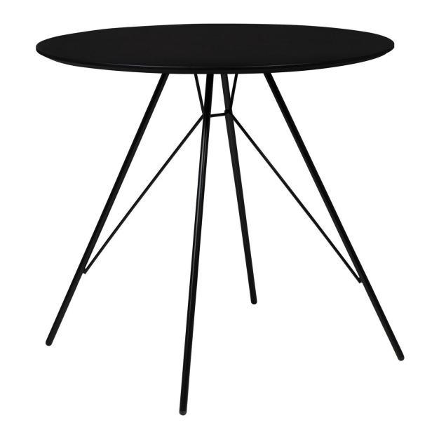 table originale plateau circulaire acier