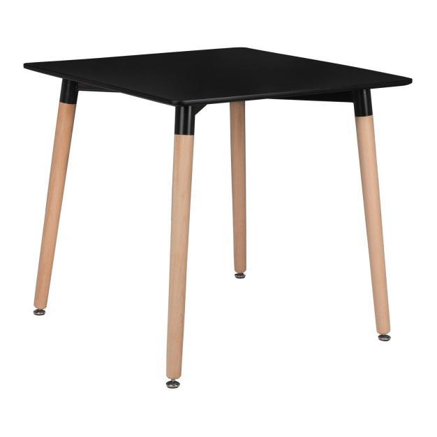 table pieds hêtre plateau noire