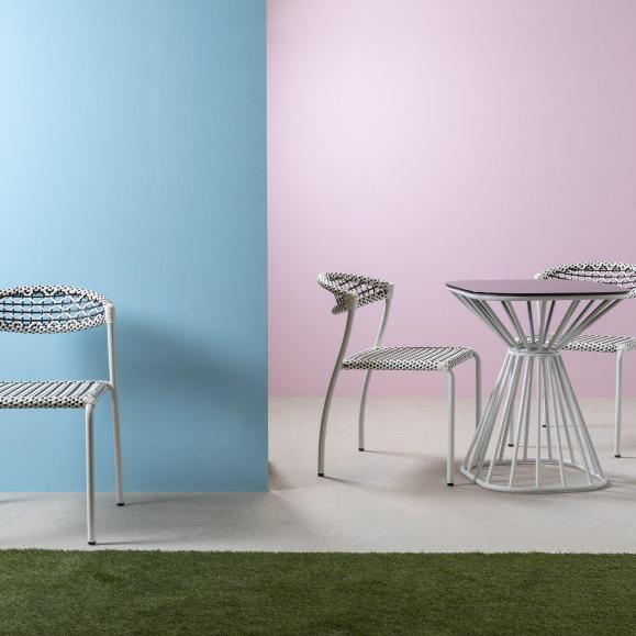 Table rayon design verre blanche