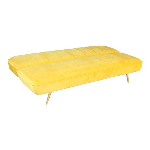 canapé lit jaune lumineux moderne