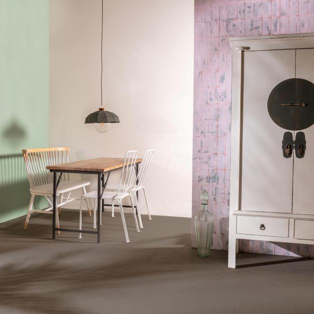 chaise banc scandinave bois clair