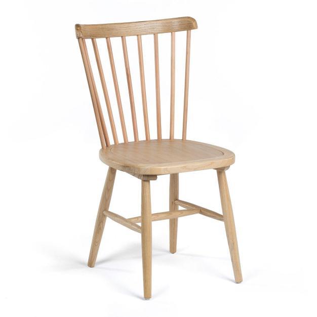 chaise élégante bois clair naturel