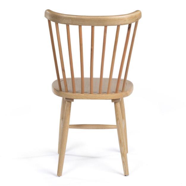 chaise dossier bois naturel d'orme