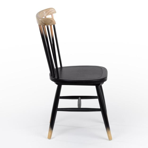 chaise bois naturel noir marron