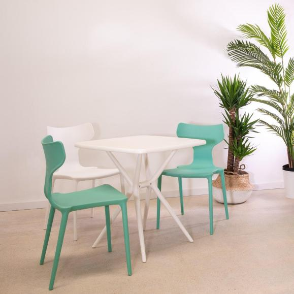 table blanche solide design