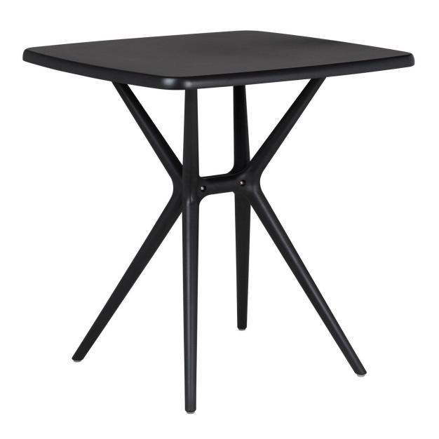 table plateau rectangle noir moderne