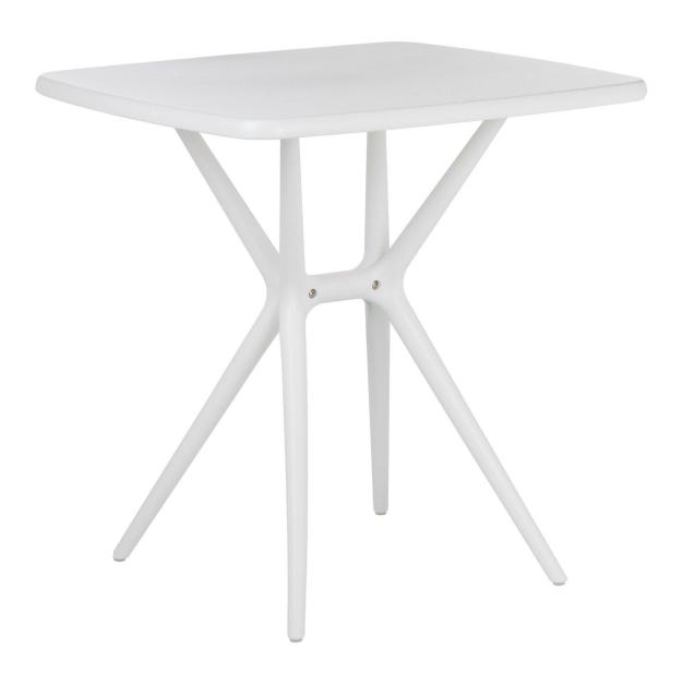 table trépied design blanche rectangle