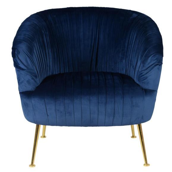fauteuil bleu éléctrique en bleu diva