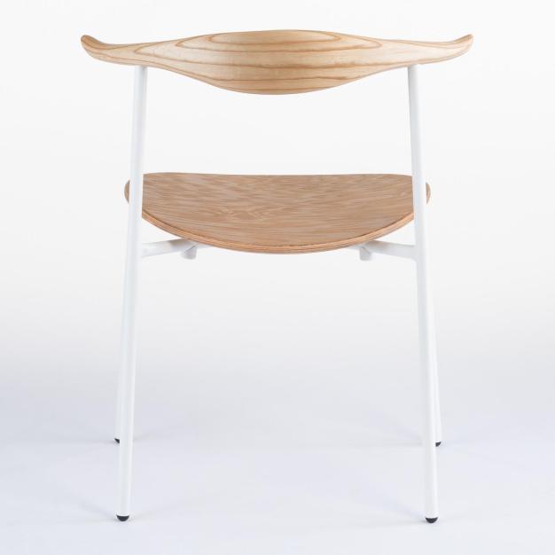 chaise de dos blanche