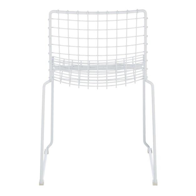 chaise grid blanche