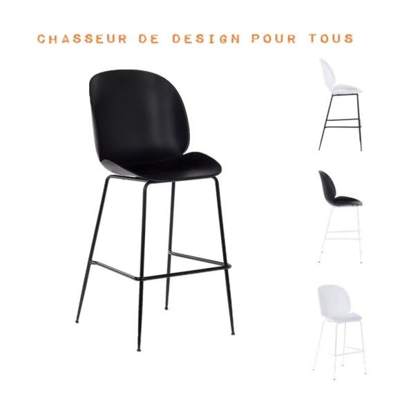 Chaise de bar beetle