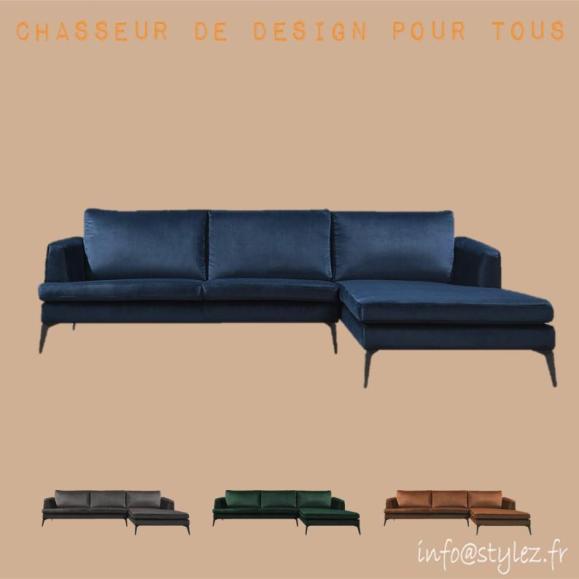 Canapé d'angle velours