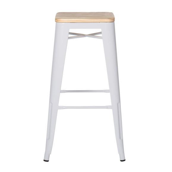tabouret et chaise blanche
