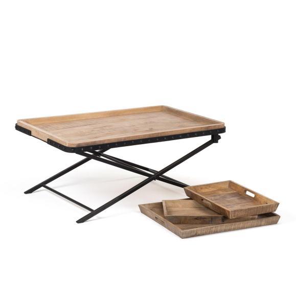 table sans plateaux