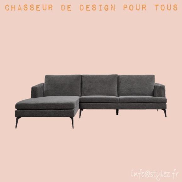 Canapé d'angle chenille