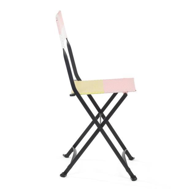 chaise pliante rose
