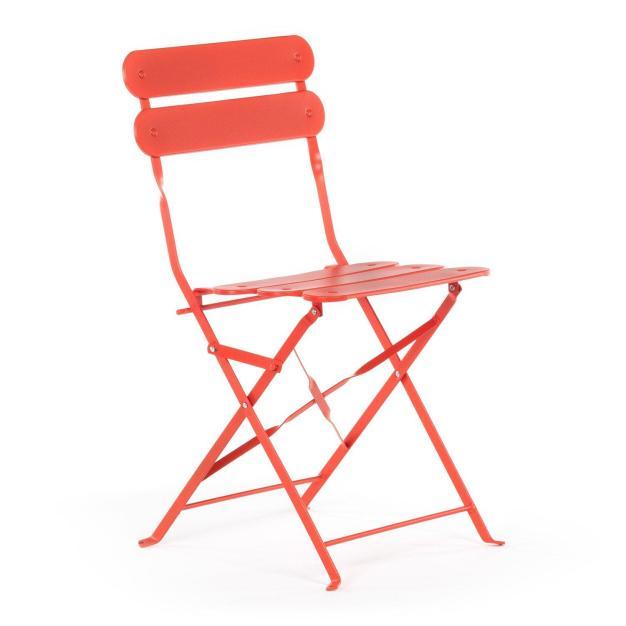 chaise pour jardin orange