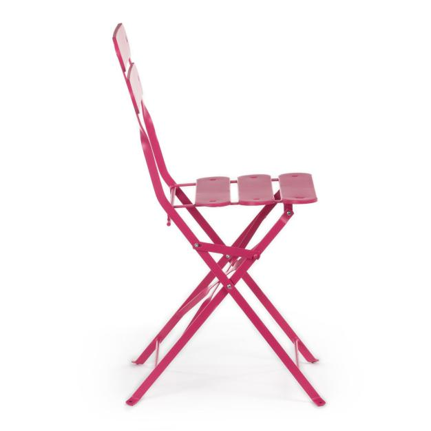 chaise pliante rose