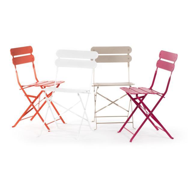 chaises pliantes colorées